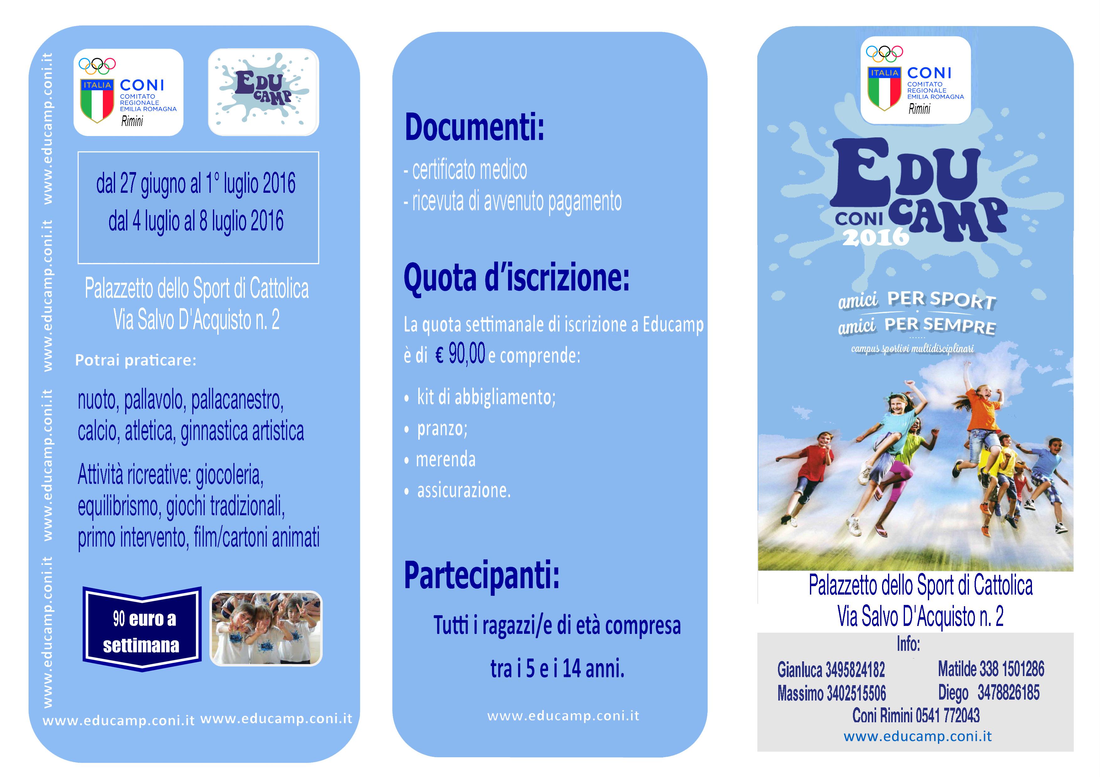Educamp 16 Brochure 3 parti prova